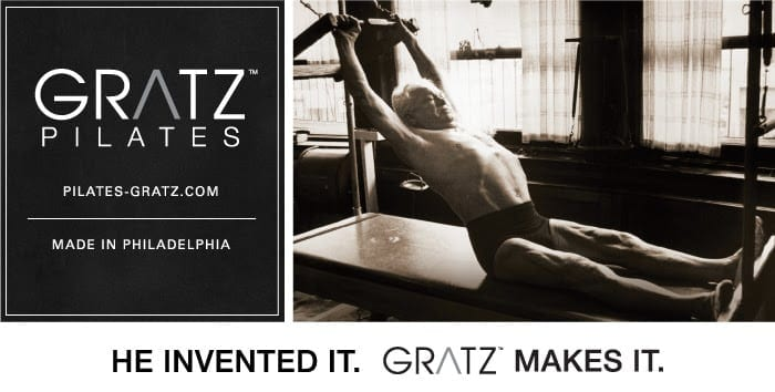 Joseph Pilates working on Classical Pilates Equipment. Manufactured by Gratz Pilates today